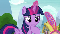 Twilight disappointed at Spike's attempt S8E24