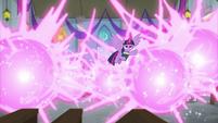 Twilight transforming Pinkie's classroom S8E1
