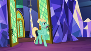 Zephyr Breeze backing out of the throne room S6E11