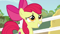 Apple Bloom grinning uncertainly S6E14.png