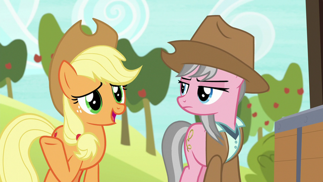 """File:Applejack """"she does have a point there"""" S7E5.png"""