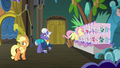 Applejack and Gladmane hear trainer ponies S6E20.png