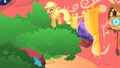 Applejack bouncing on the tree S1E08.png