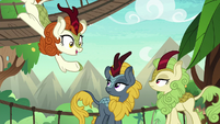 Autumn Blaze talks to more friends S8E23
