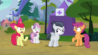 Cutie Mark Crusaders extremely shocked S7E21