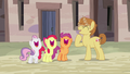 Feather Bangs and Crusaders laughing together S7E8.png