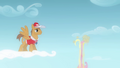 Flight camp instructor watches Fluttershy fall S2E22.png
