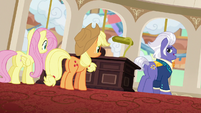 Gladmane gloating to Applejack and Fluttershy S6E20