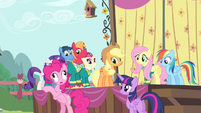 Pinkie Pie -didn't look completely petrified- S4E14