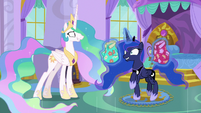 Princess Luna prancing with excitement S9E13