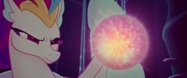Queen Novo activating her magic pearl again MLPTM