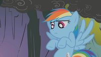 Rainbow Dash about to facehoof S1E7