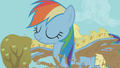Rainbow Dash carrying baby chicks over the mud-filled trench S01E13.png