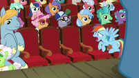 Rainbow Dash tells grannies to come back S8E5