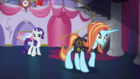 "Rarity ""only to be applied at Canterlot Carousel"" S5E14"