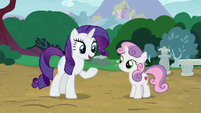 Rarity -before I have to head back to Canterlot- S7E6