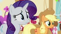 Rarity and AJ hears Twilight S5E11