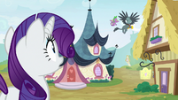 Rarity watches Gabby and Spike fly away S9E19