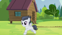 Rumble happily joining the other campers S7E21