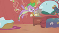 Spike pouncing on a parasprite S1E10.png