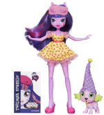 Twilight Sparkle and Spike the Puppy Equestria Girls Rainbow Rocks Set