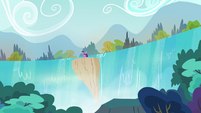 Twilight teleports at a waterfall S4E26