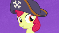 Apple Bloom wearing a pirate hat S7E8