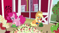 Applejack and Pinkie peel and core apples S5E24