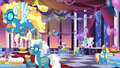 Celestia and the Wonderbolts at dinner S5E15.png