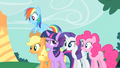 Confident Twilight with amazed friends S1E26.png