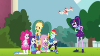 Equestria Girls taking another group photo EGFF