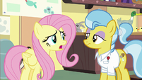 Fluttershy asks Dr. Fauna what happened S7E5