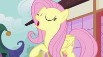 Fluttershy taking a deep breath S7E14