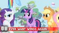 "Hot Minute with Rarity ""ever want wings again"".png"