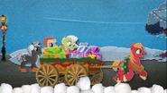MAFH 06 Big Mac ciągnie wóz pełny prezentów