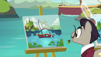 Painter pony paints abstract boat portrait S8E16