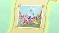 Photograph with Ponyville citizens S6 opening