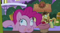 Pinkie Pie eats another pink cupcake S9E17