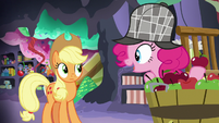 Pinkie Pie thanks Applejack for her idea S7E23