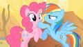 Rainbow Dash Shushing Pinkie Pie 2 S1E21.png