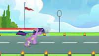 Rainbow Dash speeding off-screen S9E26