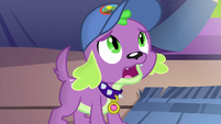 Spike asks Sunset Shimmer what happened EG4