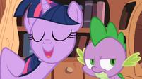Twilight Sparkle asking Spike 3 S2E03