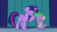 Twilight and Spike --phew!-- S5E26