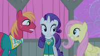 Big Mac, Rarity and Fluttershy worried S4E14