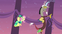 Discord criticizes Fluttershy for inviting Tree Hugger S5E7