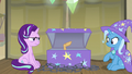 Elderly pony sticks hoof out of the trunk S8E19.png