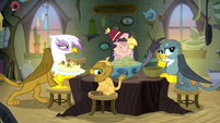 Gilda glaring at Grampa Gruff S8E16