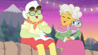 Granny Smith and Goldie Delicious laughing together EGDS12