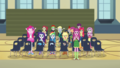 Miss Cheerilee and students cheering loudly CYOE2c.png